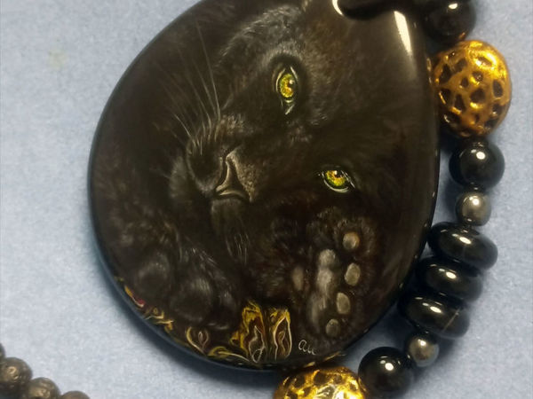 А Вы любите больших черных кошек? Знакомьтесь – Шарнах   Ярмарка Мастеров - ручная работа, handmade