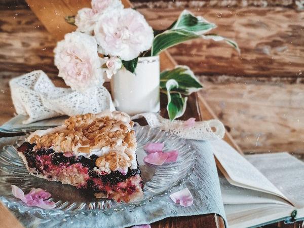Рецепт пирога с жимолостью | Ярмарка Мастеров - ручная работа, handmade