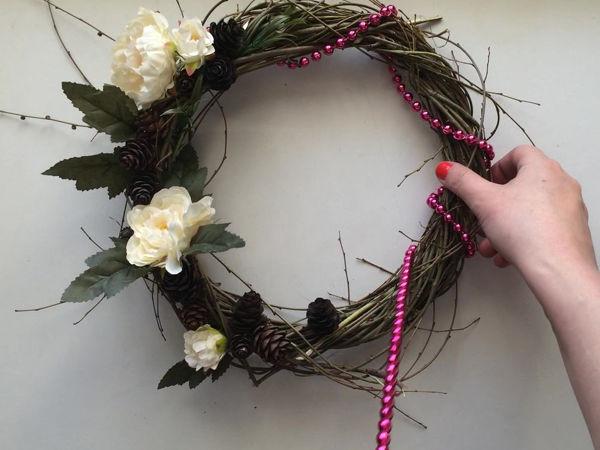 Делаем простой декоративный венок своими руками | Ярмарка Мастеров - ручная работа, handmade