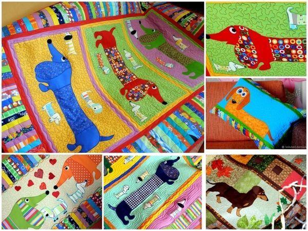Пэчворк покрывала с таксами для взрослых и детей! | Ярмарка Мастеров - ручная работа, handmade