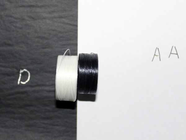 Нить для бисера S-LON. Отличие размеров AA от D | Ярмарка Мастеров - ручная работа, handmade