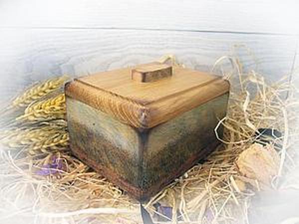 Мастер-класс: панорамный декупаж шкатулки «Пшеничные поля Ван Гога»   Ярмарка Мастеров - ручная работа, handmade