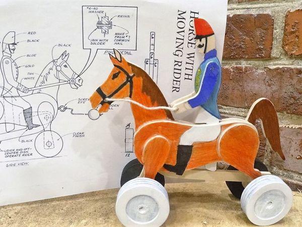 Всадник скачущий на лошади. Делаем деревянную каталку | Ярмарка Мастеров - ручная работа, handmade