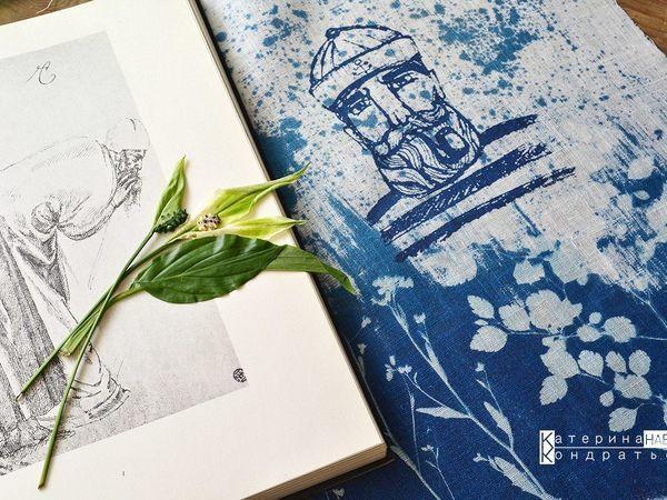 Мастер-класс по цианотиипии на ткани   Ярмарка Мастеров - ручная работа, handmade