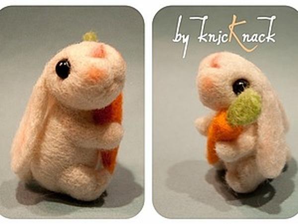МК сухое валяние Кролик | Ярмарка Мастеров - ручная работа, handmade