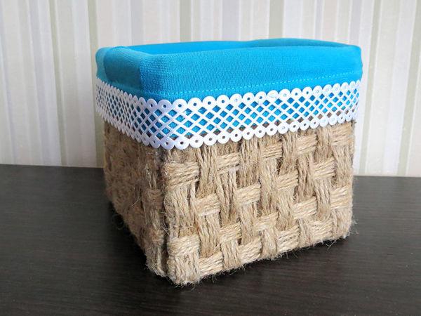Мастерим корзинку из джута своими руками. Имитация плетеной корзины | Ярмарка Мастеров - ручная работа, handmade