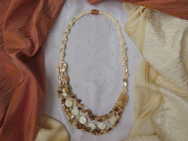 Делаем простое ожерелье из бусин, ракушек и перламутра за 2 часа | Ярмарка Мастеров - ручная работа, handmade