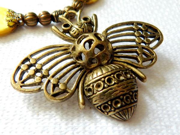 Бохо комплект  «Пчелы»   Ярмарка Мастеров - ручная работа, handmade