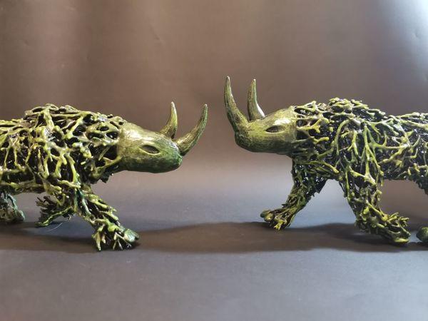 Мастер-класс: бегущий носорог | Ярмарка Мастеров - ручная работа, handmade