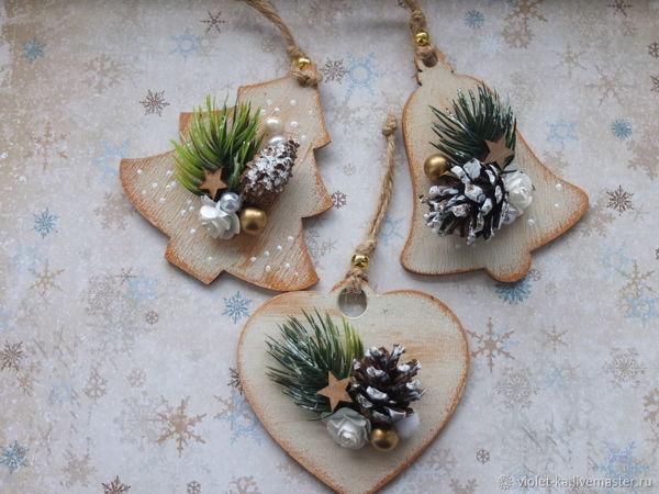 Decorating Wooden Blanks for Christmas Toys | Livemaster - handmade