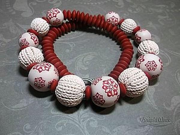 Вяжем из полимерной глины: секрет круглых бусин   Ярмарка Мастеров - ручная работа, handmade