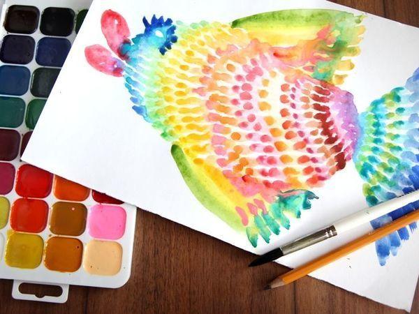Как легко и просто нарисовать радужную рыбку | Ярмарка Мастеров - ручная работа, handmade