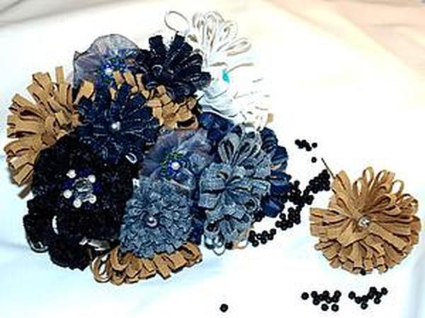 Как сделать джинсовые заколочки | Ярмарка Мастеров - ручная работа, handmade