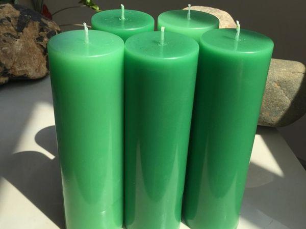 Огромные свечи Ария 22 х 6,5 см, разные цвета   Ярмарка Мастеров - ручная работа, handmade