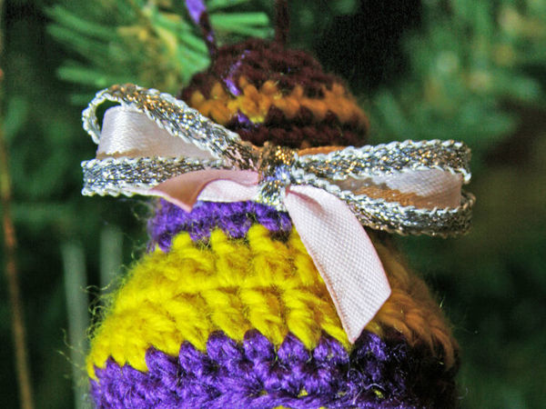 Вяжем елочную игрушку «Рождественский колокольчик»   Ярмарка Мастеров - ручная работа, handmade