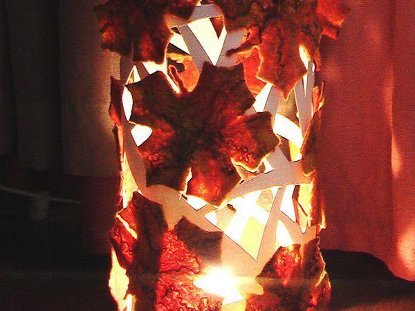 Делаем светильник «Тёплая осень» в технике мокрого валяния | Ярмарка Мастеров - ручная работа, handmade