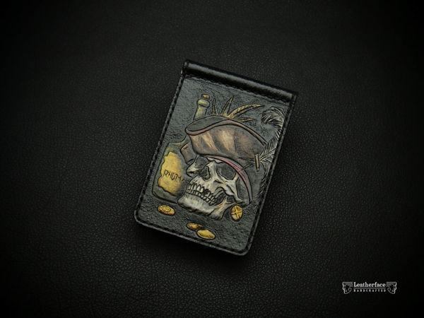 Зажим Череп Пирата | Ярмарка Мастеров - ручная работа, handmade