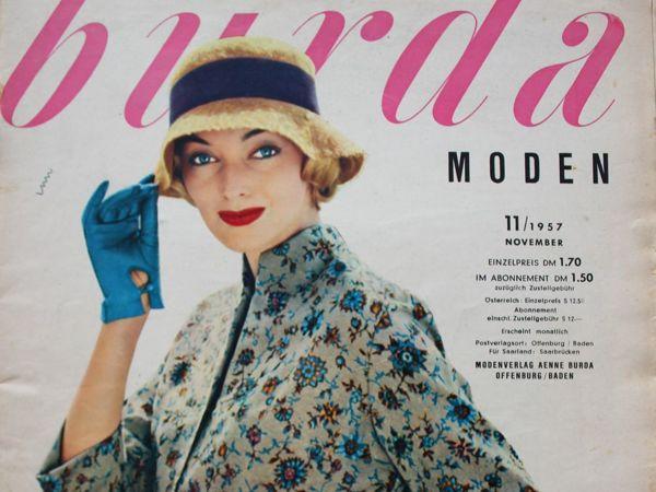 Burda moden- 11/1957 — Бурда Моден | Ярмарка Мастеров - ручная работа, handmade