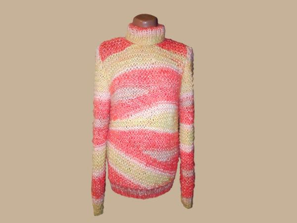 Вяжем свитер спицами | Ярмарка Мастеров - ручная работа, handmade