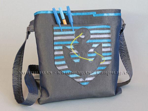 Оформляем сумочку аппликацией в морском стиле | Ярмарка Мастеров - ручная работа, handmade