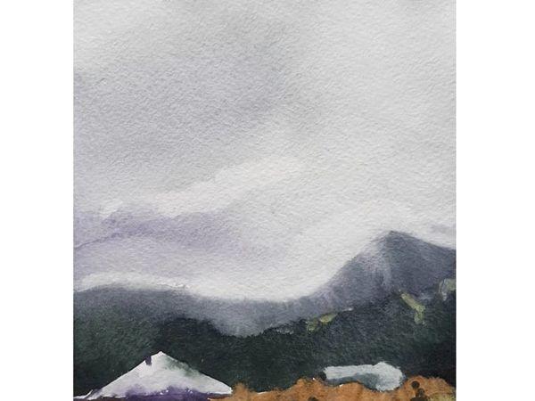 Мастер-класс по акварели «Горный пейзаж» | Ярмарка Мастеров - ручная работа, handmade