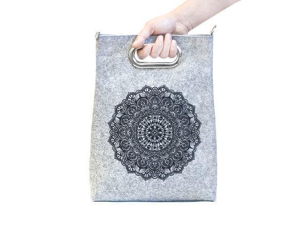 5cb9350d3ad4 Шьем стильную фетровую сумку-пакет своими руками | Ярмарка Мастеров -  ручная работа, handmade