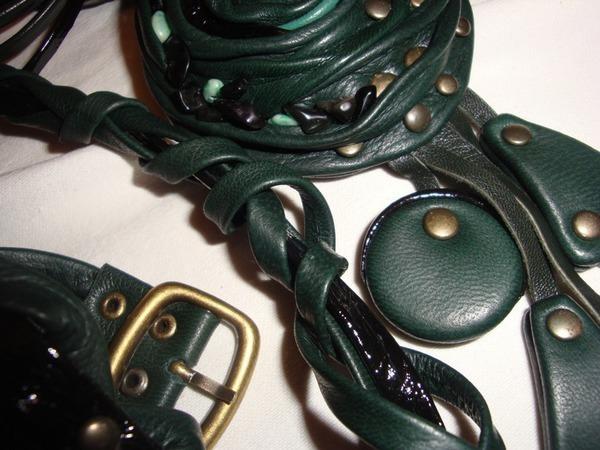 Новый комплект Зеленое с металлом   Ярмарка Мастеров - ручная работа, handmade