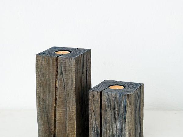 Подсвечники из дерева   Ярмарка Мастеров - ручная работа, handmade
