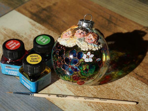 Обзор витражных красок Glasmal-Farbe C.Kreul | Ярмарка Мастеров - ручная работа, handmade