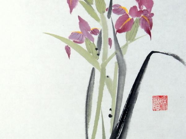Мастер-класс по китайской живописи. Рисуем ирис со стрекозой   Ярмарка Мастеров - ручная работа, handmade