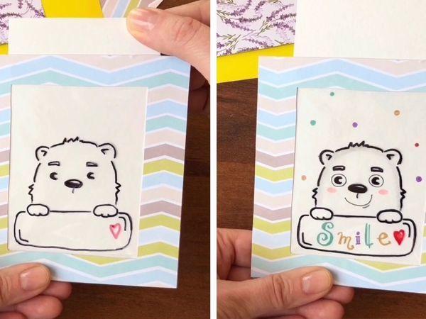 Как сделать волшебную открытку своими руками видео, про