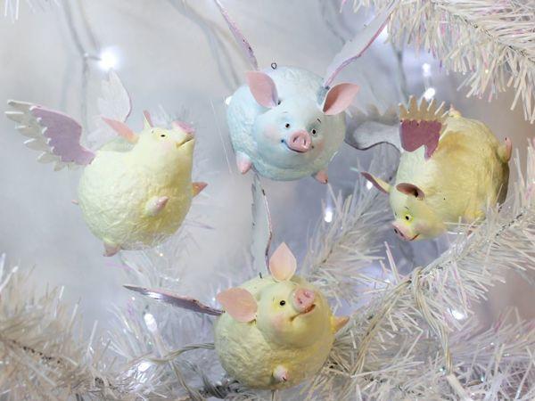 Мастерим подвеску на елку «Крылатая зефирная свинка»   Ярмарка Мастеров - ручная работа, handmade