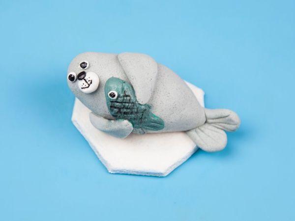 Лепим тюленя из соленого теста | Ярмарка Мастеров - ручная работа, handmade