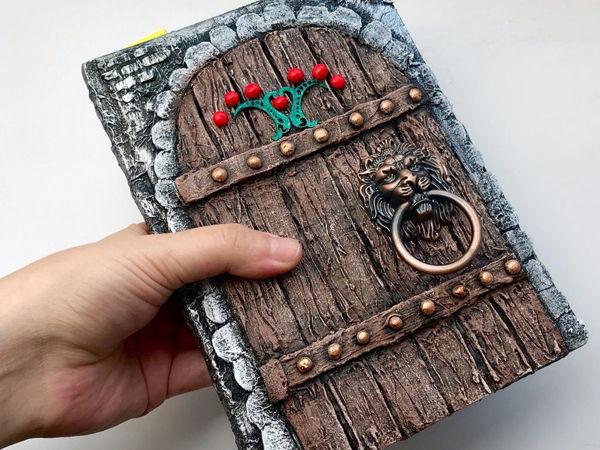 Декор блокнота. Как сделать имитацию деревянной двери | Ярмарка Мастеров - ручная работа, handmade