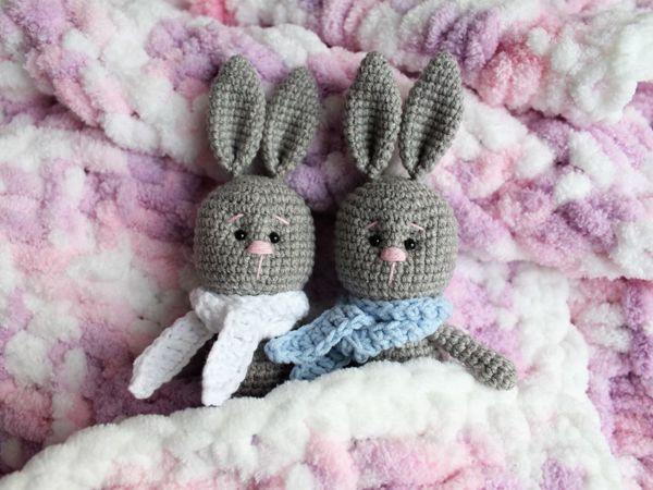Вяжем зайку для куклы | Ярмарка Мастеров - ручная работа, handmade