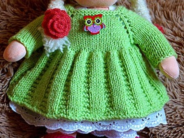 71f3a24dc51 Вяжем платье для куклы – Ярмарка Мастеров