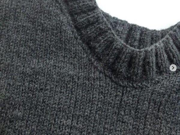 Кеттельный шов: обработка края горловины и проймы. Вязание спицами | Ярмарка Мастеров - ручная работа, handmade