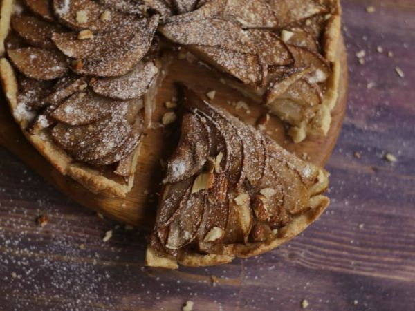 Яблочный пирог с корицей   Ярмарка Мастеров - ручная работа, handmade