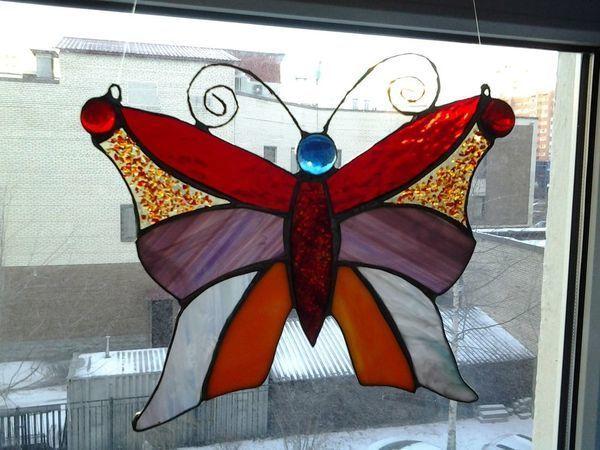 Делаем витражную бабочку в технике Тиффани | Ярмарка Мастеров - ручная работа, handmade