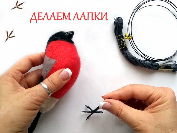Как сделать реалистичные лапки для птички   Ярмарка Мастеров - ручная работа, handmade