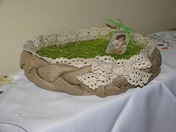 Как сшить пасхальную корзиночку | Ярмарка Мастеров - ручная работа, handmade