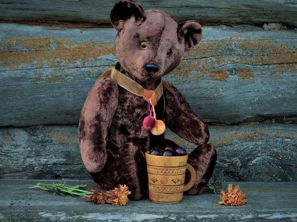 Шоколадно-вишнёвый мишка   Ярмарка Мастеров - ручная работа, handmade