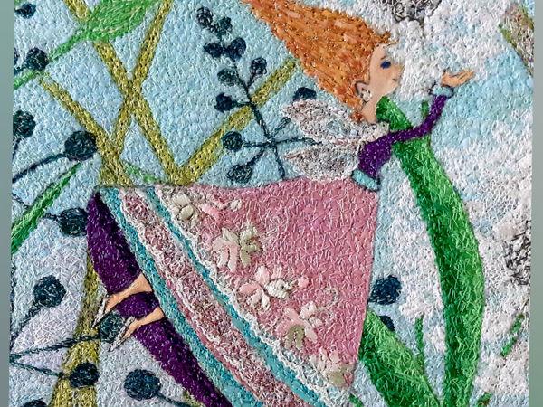 Процесс создания картины в детскую  «Феи цветов» | Ярмарка Мастеров - ручная работа, handmade
