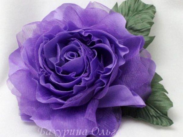 Цветы из шёлка. МК .Роза Николь. | Ярмарка Мастеров - ручная работа, handmade
