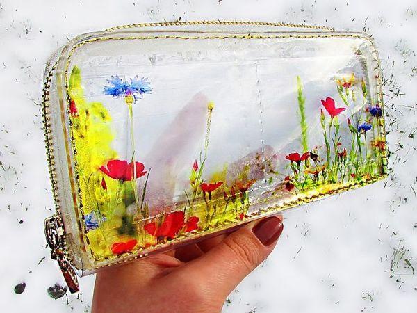 Создаем эксклюзивный прозрачный кошелек из эпоксидной смолы | Ярмарка Мастеров - ручная работа, handmade