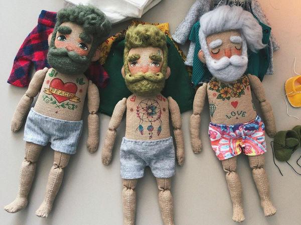 Те, о которых всегда забывают: текстильные куклы-бородачи от Kristina Rockanddoll | Ярмарка Мастеров - ручная работа, handmade