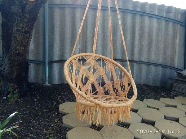 Плетем подвесное садовое кресло (качели) в технике макраме   Ярмарка Мастеров - ручная работа, handmade