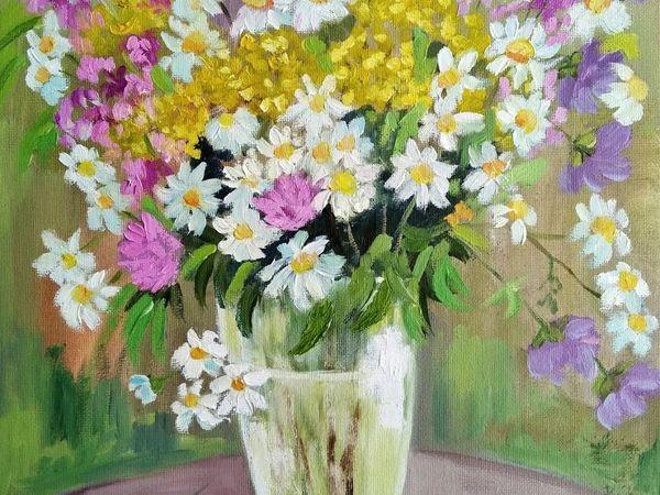Скидка на картины с цветами и морем   Ярмарка Мастеров - ручная работа, handmade