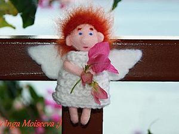 Ангел сентября, войлочный магнит или брошь своими руками | Ярмарка Мастеров - ручная работа, handmade