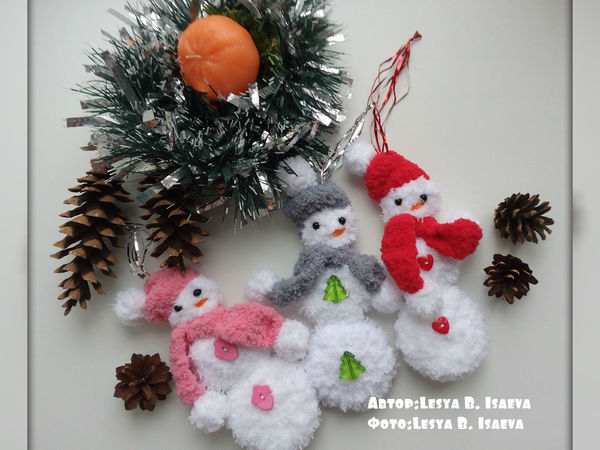 Как сделать новогодние украшения для ёлки   Ярмарка Мастеров - ручная работа, handmade